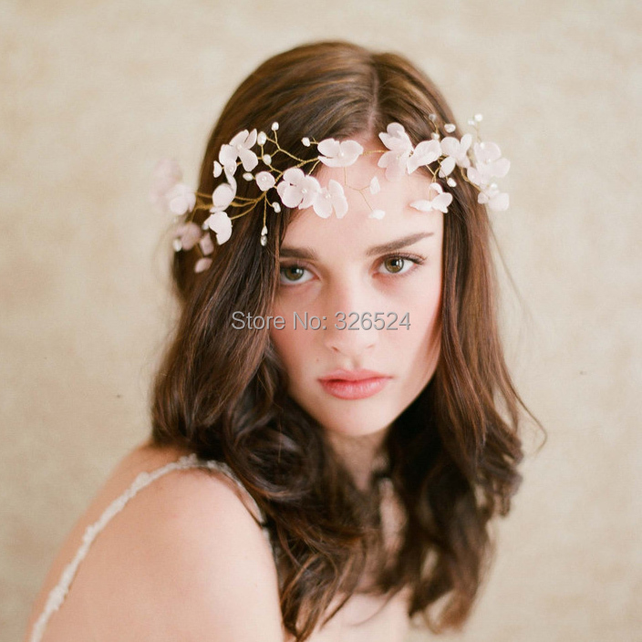 Real photo shooting Flower crown tiara elegant tiara wedding hari accessories CPA097(China (Mainland))