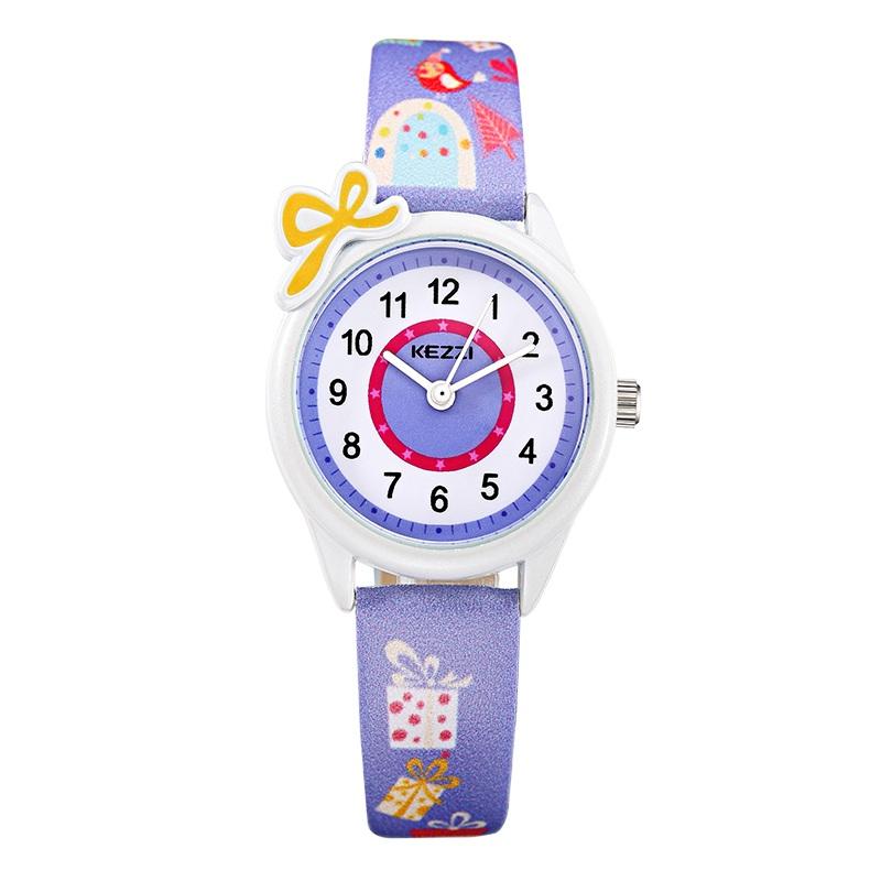 Free Shipping Kezzi Kids Children Watches Quartz Analog Cartoon Leather Strap Wrist Watch Boys Girls Waterproof Fashion K1423