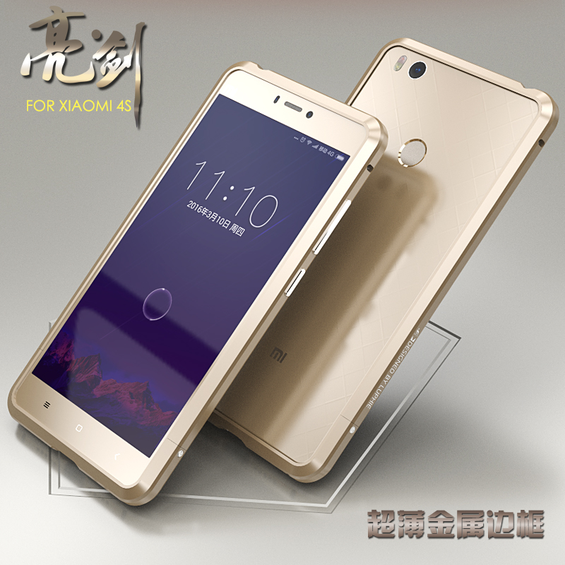 Luphie Diamond Metal Bumper Frame For Xiaomi4s Xiaomi 4s Mi4s Luxury Aluminum Cover Slim Couqe font