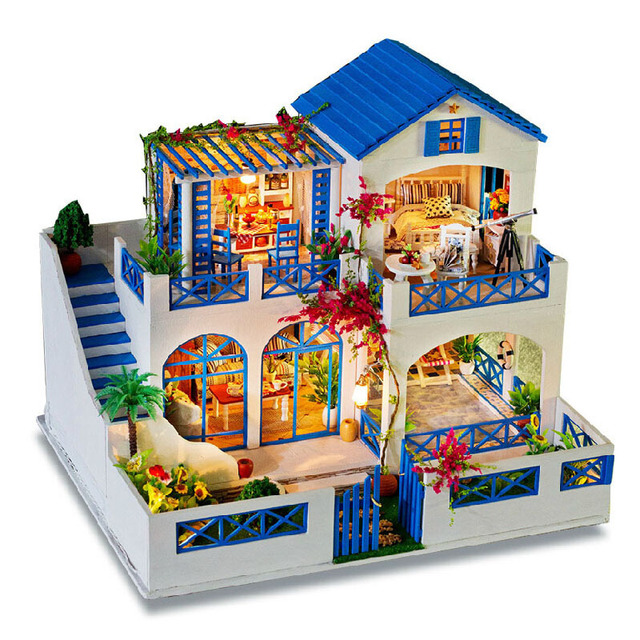 acheter bricolage 3d poup es en bois fait main mod le construction kits maison. Black Bedroom Furniture Sets. Home Design Ideas