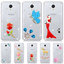 "Buy stock 9 style Blue butterfly Diamond flower Clear hard plastic mobile phone cover Case Meizu MX 5 Pro / PRO 5 5.7"" Cases for $2.37 in AliExpress store"