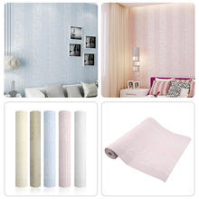 New 10M Home Decor Improvement Modern Non-woven Flocking Wallpaper Rolls Hot(China (Mainland))