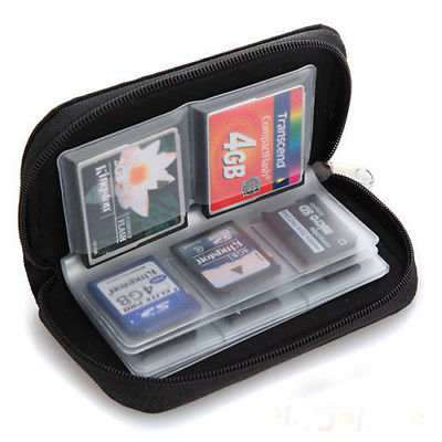 Black 22-bit Memory Collect Practical SD SDHC MMC TF Microsd Card Storage Pouch Bag Case Holder(China (Mainland))