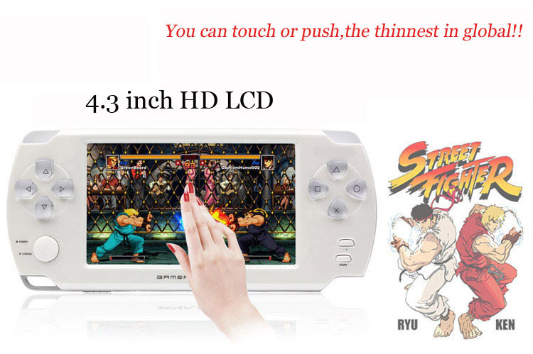 2015 New 4.3-inch 4gb CoolBoy X8 video game console HD LCD 720P touch screen handheld game downloading supported,free shipping(China (Mainland))