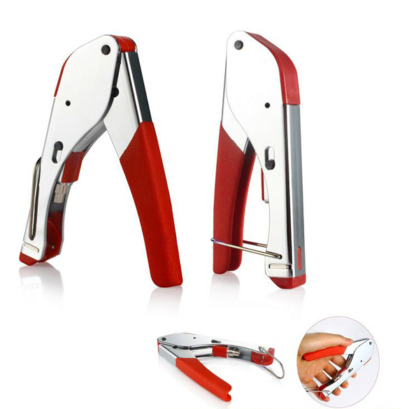 DIU# RG59/RG6 Coaxial Plier Network Cable Stripper Wire Crimper Stainless Steel Free Shipping(China (Mainland))