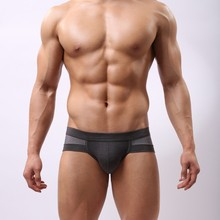 Wholesale Mens Underwears Mesh Briefs Breathable Underpants Modal Soft Cotton Solid Low Waist 5-Colors Size L-XXL High Quality(China (Mainland))