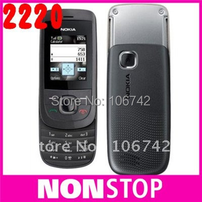 original nokia 2220 slide Mobile Phones,Unlocked nokia 2220s cell phones mp3 player free shipping(China (Mainland))