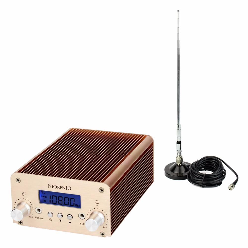 2W / 10W PLL FM Transmitter Mini Radio Stereo Station Bluetooth Wireless Broadcast + Power + Antenna for FM Radio Y4337J(China (Mainland))