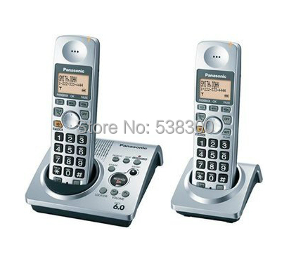 KX-TG 1031s Dect 6.0 Cordless Phone Set 2 Handsets Digital Wireless Telephone Recording Stand-alone Home Phone(China (Mainland))