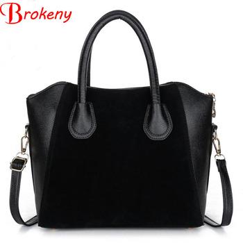 Brokeny! 2016 Fashion bags women bag spring nubuck leather bags women messenger bags free shipping women handbags LS6514na