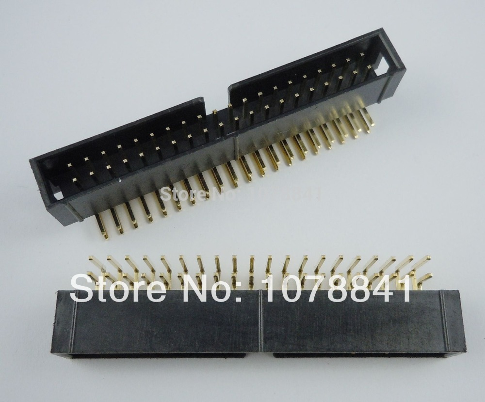 50 Pcs Per Lot 2.54mm 2x20 Pin 40 Pin Right Angle Male Shrouded IDC Box Header Connector<br><br>Aliexpress
