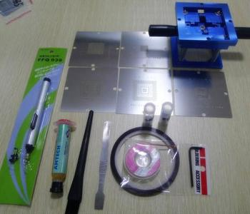 BGA Reballing Stencil Station + 5 XBOX 90mm Stencils+ Paste + 6 pcs AS + 2 BALLS