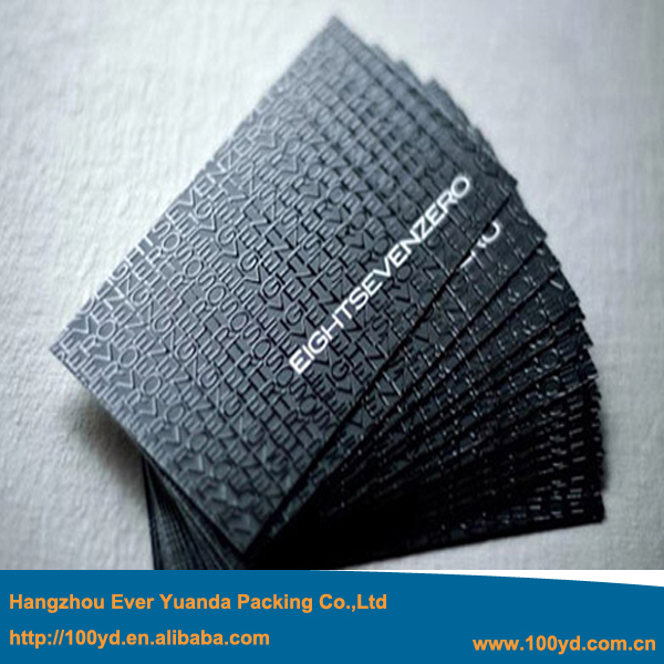 2015 New Arrival High Quality One Side UV Business Cards Customized Black Cardboard Name Card High-End Brilliant Thick 600gsm<br><br>Aliexpress