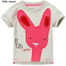 Little maven 2016 new summer baby boy clothes short sleeve O-neck t shirt Cotton giraffe printing brand tee tops L001