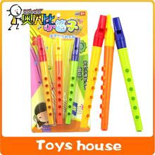 music playing Plastic Children's early education six holes clarinet Small toys flute instrument learning & education(China (Mainland))