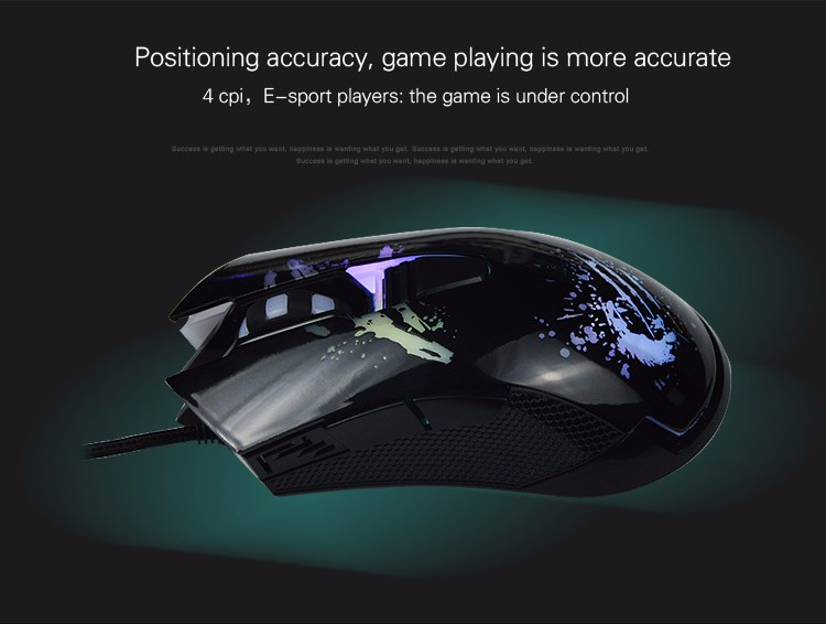 2016 High Quality Gaming Game Mouse 2500dpi USB Wired Gaming Game Mouse Pro Gamer Computer Mice For PC