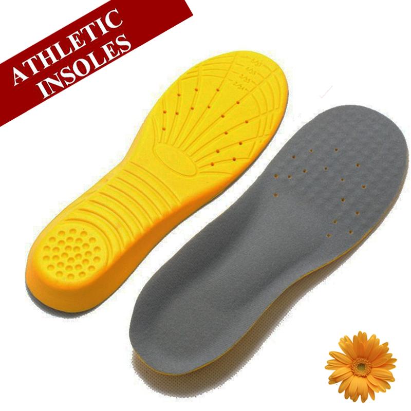 Ultra Light Soft Memory Foam Sports PU Insoles Women Men Shoe Pad Metatarsal Thick Flat foot Shock Absorb Sweat Military Insoles(China (Mainland))