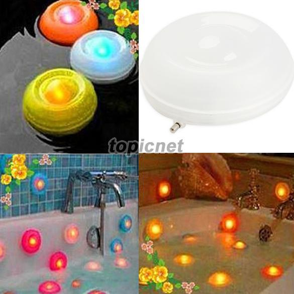 EA14 Underwater Color Change Floating LED Pond Pool Spa Hot Tub Night Light(China (Mainland))