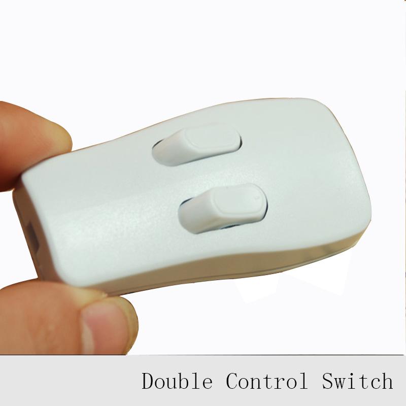 1 pc lampe double interrupteur de commande ce cqc lampadaire lampe de table boutons poussoirs de - Interrupteur lampe de chevet ...