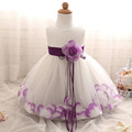Cute Baby Frock designs Flowers Petals Tassels Dress Babes Girl Wedding Birthday Event Party dresses Baptism