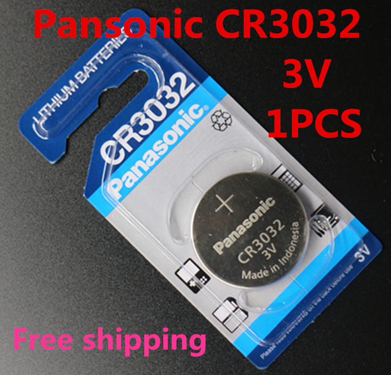 1pcs/lot For Panasonic CR3032 3V LITHIUM BATTERY Button battery batteries made in Indonesia for shipping(China (Mainland))