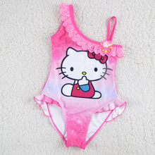 Buy New Hello Kitty Girl's Swimsuit Children Swimwear One Piece Swimming Suit Kids Brand Clothes Summer Beach Wear SW903-CGR1 for $8.16 in AliExpress store
