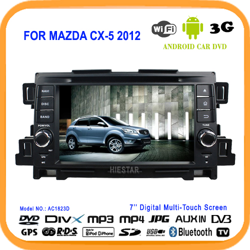 CX5 CX 5 Bluetooth Steering Wheel Control Car Radio DVD Player GPS 7'' Touch Screen Android 5.1 system WIFI For Mazda CX-5 2012(Hong Kong)