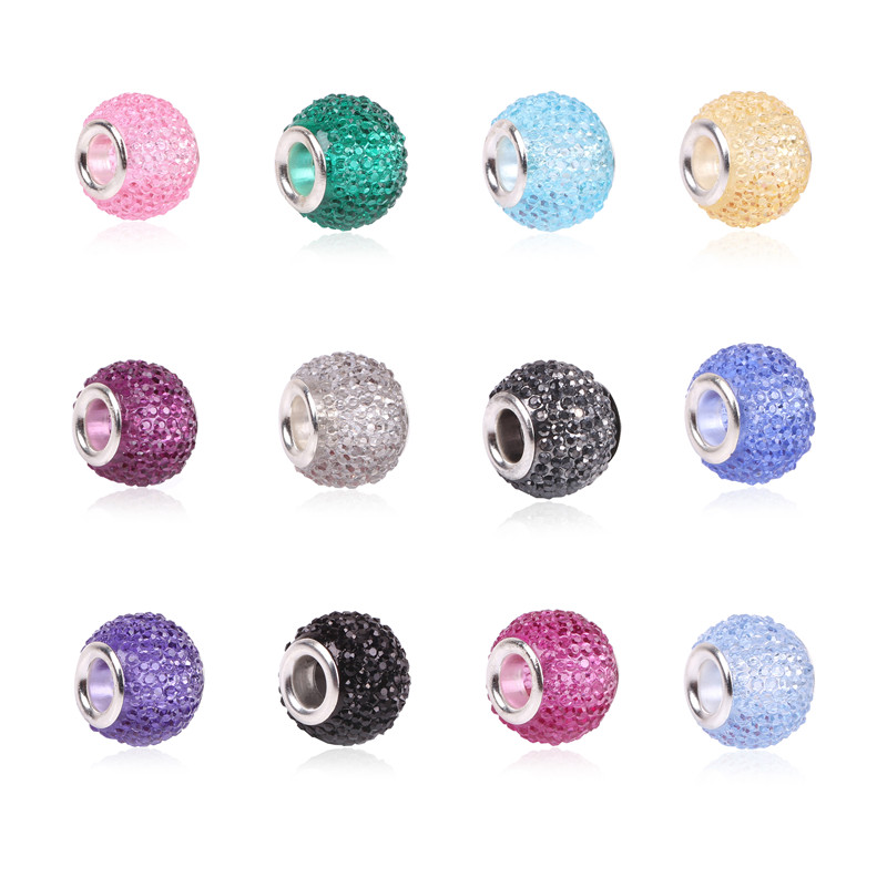 Retail Fashion White Glass Beads Charms Fit Pandora Charms Bracelets & Necklaces For DIY Women jewerly(China (Mainland))