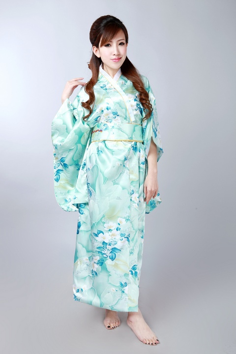 New Japanese Kimono Vintage Original Tradition Silk Yukata Dress with Obi H0047Одежда и ак�е��уары<br><br><br>Aliexpress