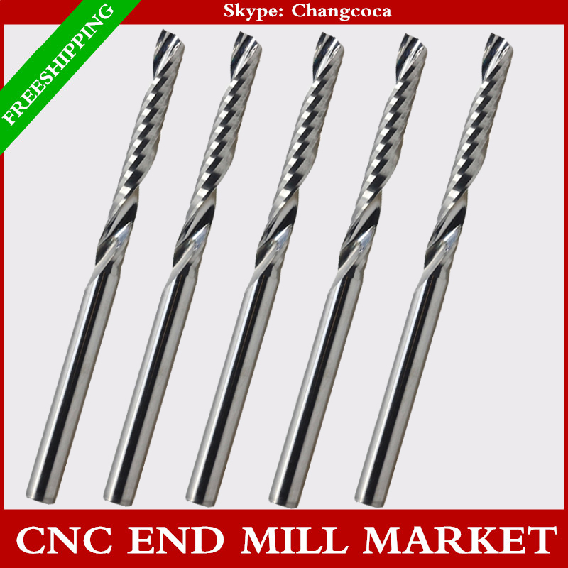4mm*25mm,CNC machine solid carbide tungsten end mill,woodworking milling cutter,1 Flute end mill,PVC,MDF,acrylic,wood tool(China (Mainland))