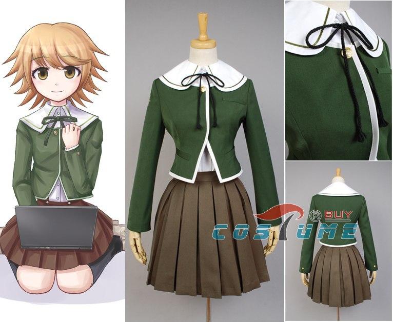 Danganronpa Chihiro Fujisaki Cosplay Costume Full Set Custom Made