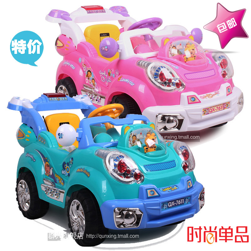 New Arrival Dual Drive Remote Control Electric Car Child Ride On Perfect Baby Electric Car Ride On Toy Gifts For Kids(China (Mainland))