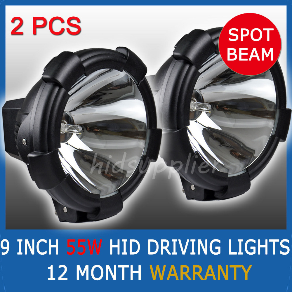 "2Pcs 9"" 55W HID XENON DRIVING LIGHTS OFF ROAD 50W 9 INCH SPOTLIGHT 4WD(China (Mainland))"
