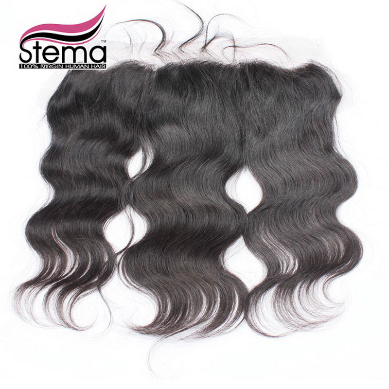 4x13 Indian Virgin Hair Body Wave Lace Closure Free Part With Baby Hair Indian Hair Free Shipping Body Wave Lace Closure