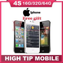"Factory Unlocked Original Apple iphone 4S 8GB/16GB/32GB/64GB Mobile phone Dual core Wi-Fi GPS 8.0MP 3.5""TouchScreen iOS USED(China (Mainland))"