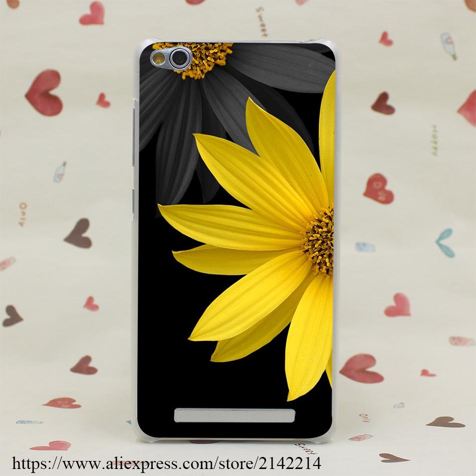 886GE black flower desktop Hard Transparent Case for Redmi 2 2A 3s Pro Note 2 3 Pro Meizu M2 Mini M3 M2 Note(China (Mainland))