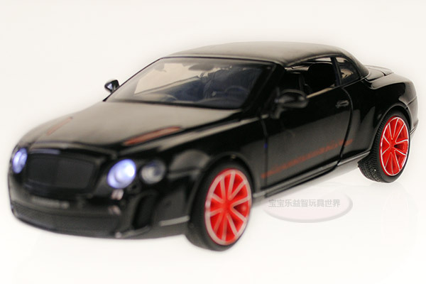 Free shipping 1:32 Bentley Supersports ISR Diecast Car Model Vehicle Toy collection Sound&Light Black B23132(China (Mainland))
