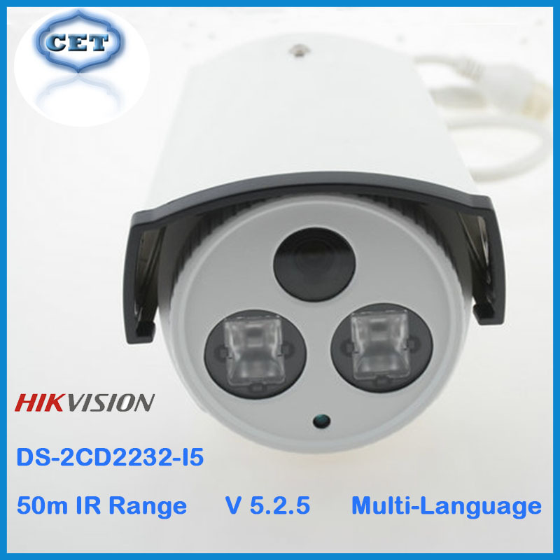 Hot Sell Hikvision IP Camera 3MP Bullet CCTV Cam DS-2CD2232-I5 POE Network Camera Waterproof IP66 IR 50m CCTV Security System(China (Mainland))