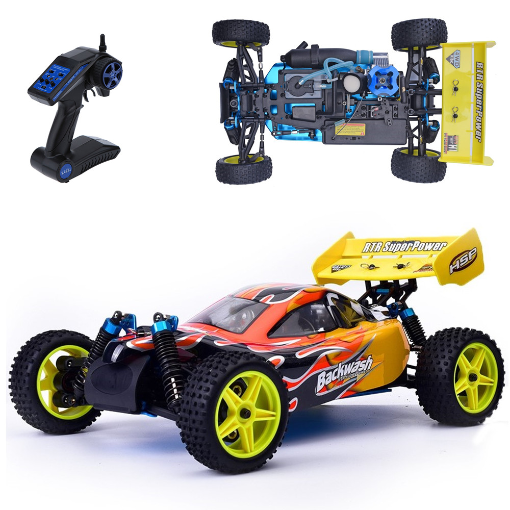 HSP Rc Car 1/10 Scale Models Nitro Gas Power 4wd Remote Control Car Two Speed Off Road Buggy 94166 High Speed Kid Toys(China (Mainland))