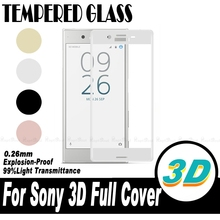 Buy 3D Full Cover Curved Edge Screen Protector Film Sony Xperia XZ X Compact Performance XA XA1 XZS Ultra Premium Tempered Glass for $2.74 in AliExpress store