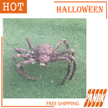 Poseable Furry Spider Halloween Spider Haunted House chamber Halloween decorations props spider terror Free Shipping(China (Mainland))