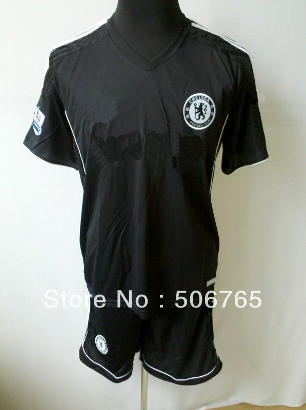 New Arrivals Chelsea 13/14 second away soccer jerseys white soccer kit Original Logo football uniforms Free shipping!(China (Mainland))