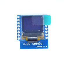 "OLED Shield for WeMos D1 mini 0.66"" inch 64X48 IIC I2C(China (Mainland))"