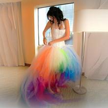 2016 New Arrival Beautiful Many Colour Vestido De Noiva tulle Crost Puffy Women Wedding Dresses