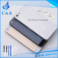 1 piece free shipping new replacement parts for iphone 5 5g back housing metal alloy back