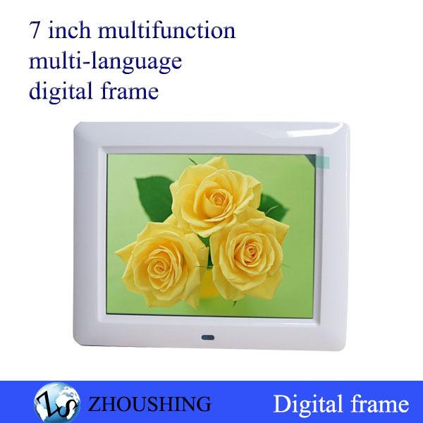 Free shipping HD digital photo frame album 7 inch LCD HD electronics photo album 800*480 multifunction video photo audio(China (Mainland))