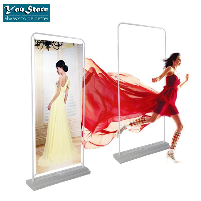 60*160cm Portable Roll Up Banner Display Stand Advertising Display Exhibition Equipment Trade Show YINBANG BG-M60(Hong Kong)