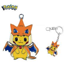 Pokemon keychain cartoon anime figures toys Pikachu Cosplay Charmander Key Chains Pendants kids kawaii toys Christmas gifts