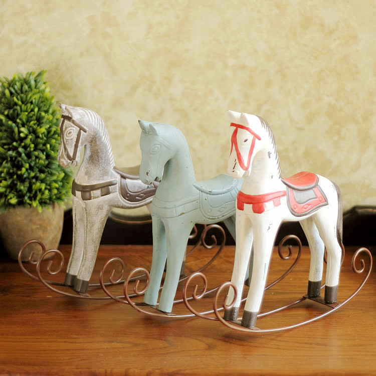 hot sale new year gift horse mascot trojan furnishing articles rocking horse home decor chritmas gift