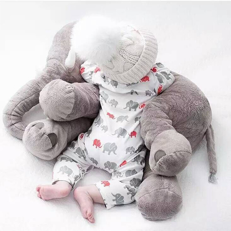 Elephant Soft Appease Baby Pillow Baby Calm Doll Baby Toys Baby Sleep Bed Car Seat Cushion Kids Portable Bedroom Bedding Stuffed